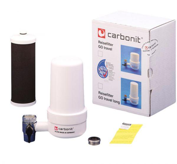 Carbonit Reisefilter GO Travel long mit Filtereinsatz RFP Premium vom wasserfilter-handel.de
