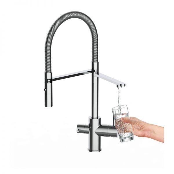 Alvito 3-Wege-Armatur Levanto Chrom mit extra Auslaufhahn für Filterwasser zum Anschluss an Wasserfilter
