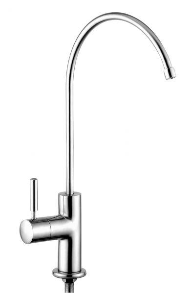 Edler Design Wasserhahn Trento aus Edelstahl für Wasserfilter im Wasserfilter-Handel