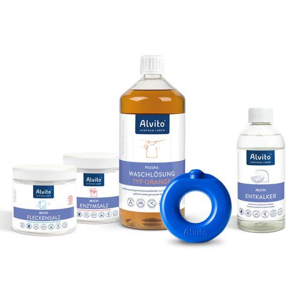 Alvito WaschSystem Startset Orange mit WaschRing & Waschlösung orange - ökologisches Waschmittel für jede Wäsche