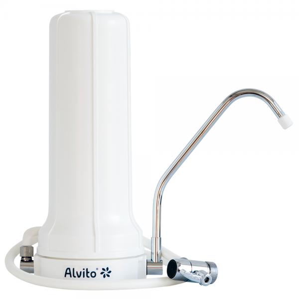 Alvito Auftisch-Wasserfilter Basic zur Montage am Wasserhahn vom Wasserfilter-Handel