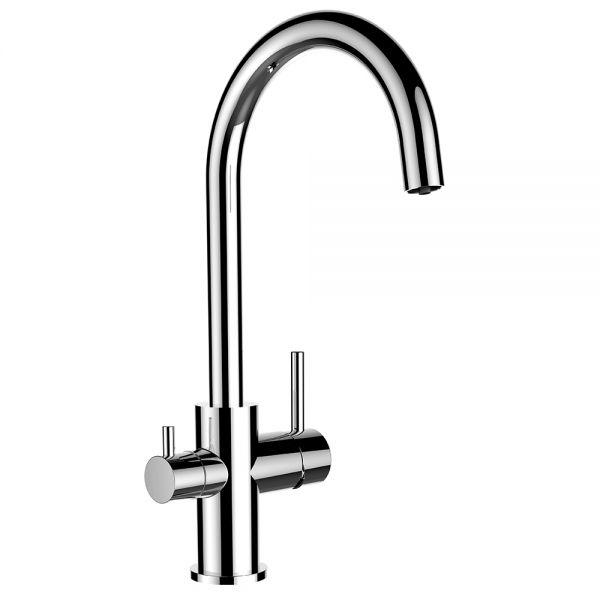 Formschöner 3-Wege-Wasserhahn für die Küche vom Wasserfilter-Fachhandel