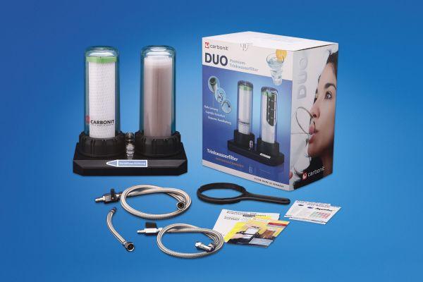Carbonit Untertisch-Wasserfilter DUO-HP mit Kalkpatrone und NFP Premium vom wasserfilter-handel.de
